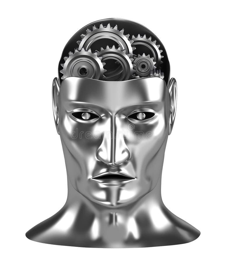 Engranajes de proceso de pensamiento del cerebro libre illustration