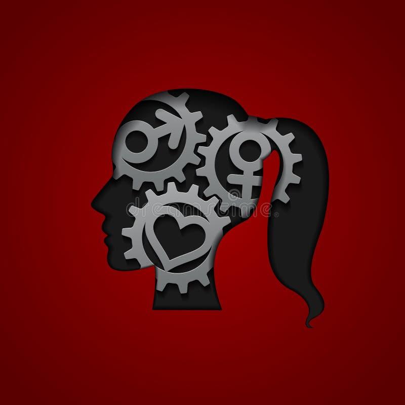 Engranajes del cerebro libre illustration