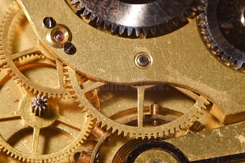 Engranajes del reloj fotografía de archivo