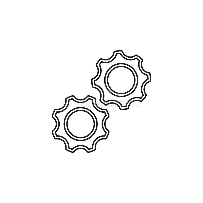 Engranajes del vector - icono de los dientes - s?mbolo de los ajustes libre illustration