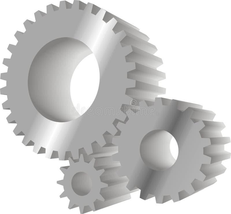 Engranajes grises stock de ilustración