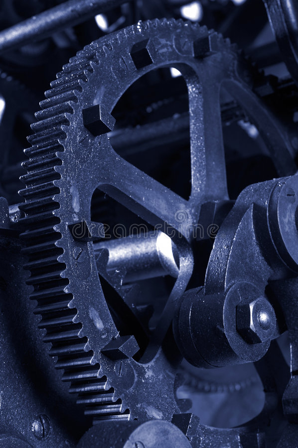 Engranajes industriales imagenes de archivo