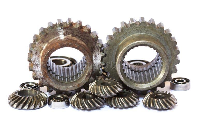Engranajes industriales del metal imagen de archivo libre de regalías