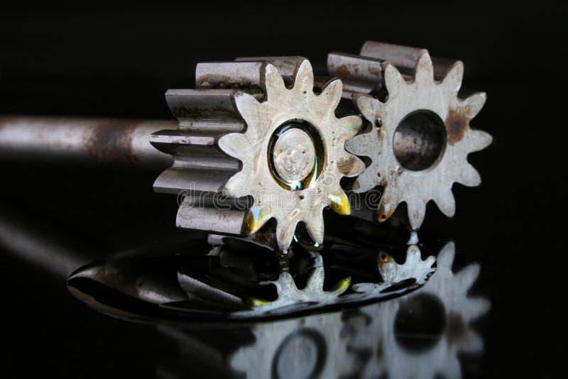 Engranajes que trabajan junto foto de archivo libre de regalías