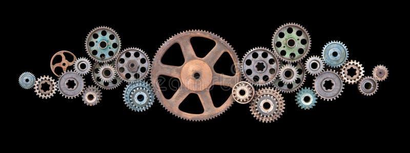 Engranajes retros de los dientes fotografía de archivo