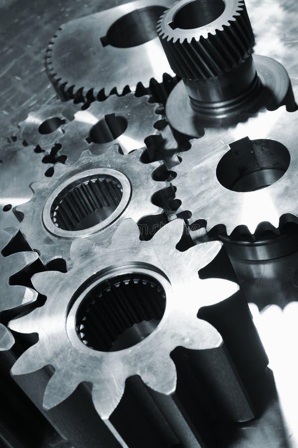 Engranajes Titanium y de acero imagen de archivo