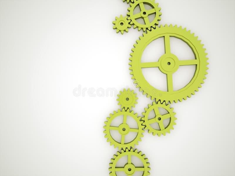 Engranajes verdes stock de ilustración