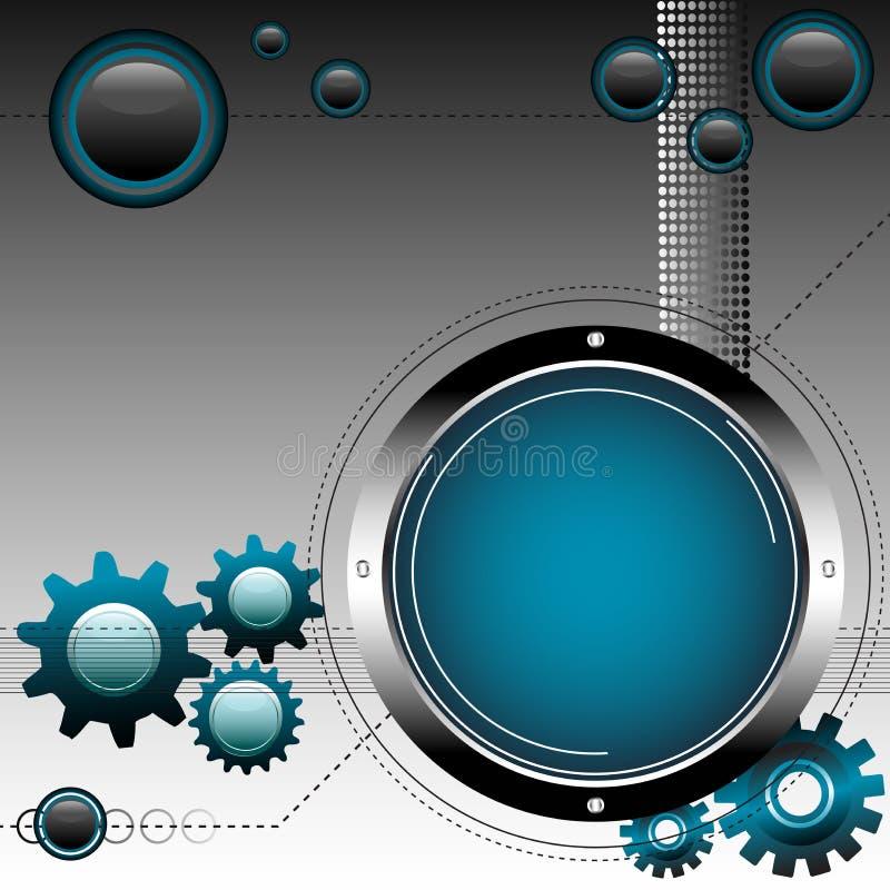 Engranajes y esferas ilustración del vector