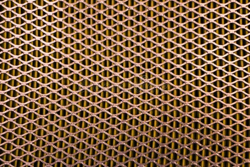 Engranzamento de aço Grade do filtro de ar do carro Textura da grade do metal de vehic imagens de stock