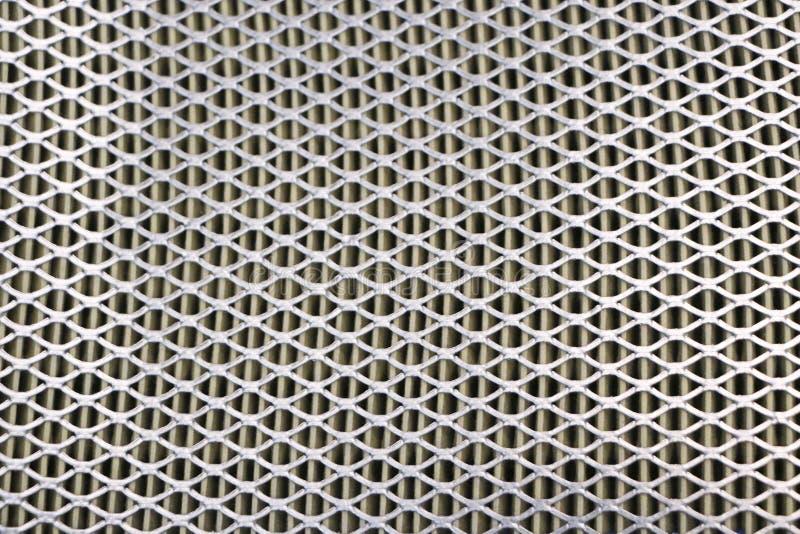 Engranzamento de aço Grade do filtro de ar do carro Textura da grade do metal de vehic fotos de stock royalty free