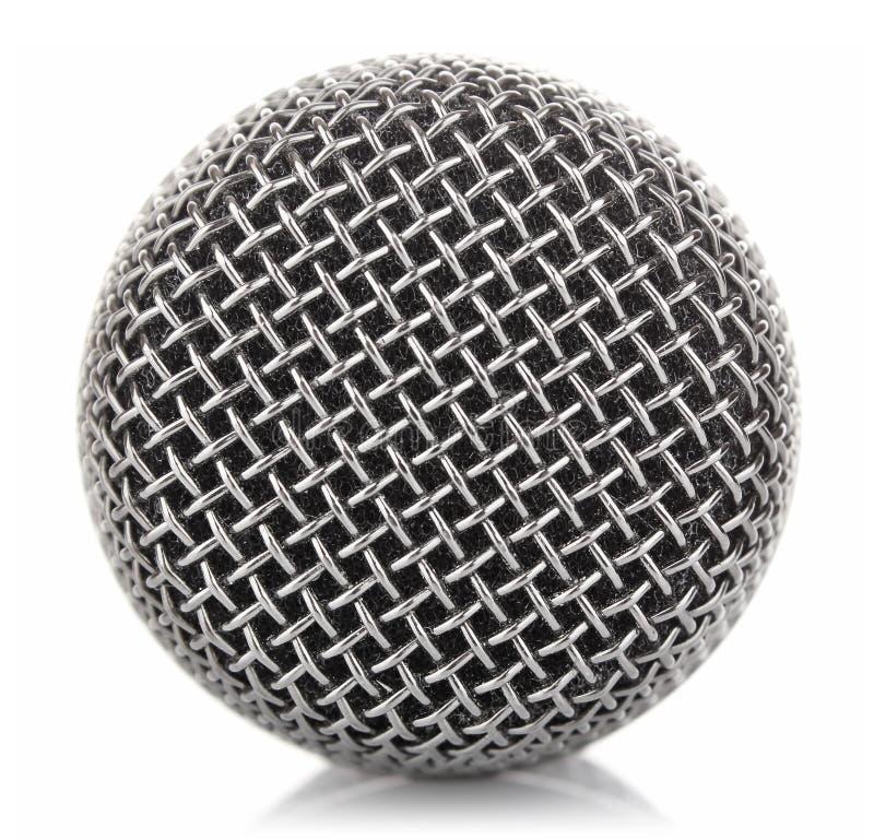 Engranzamento metálico do microfone foto de stock royalty free