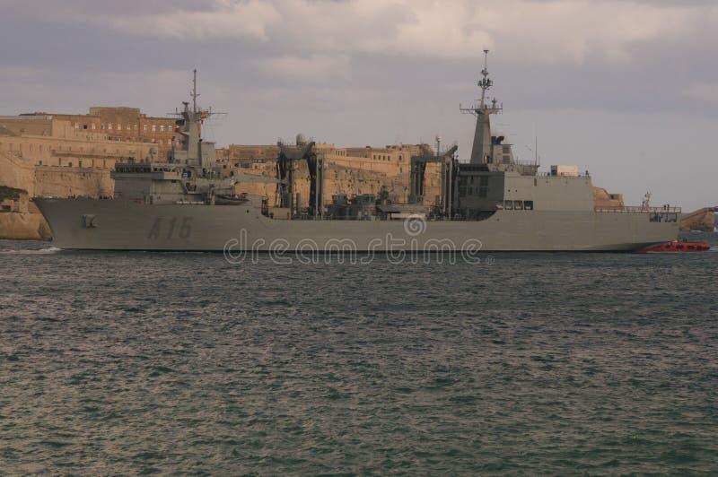 Engrasador español de la marina de guerra foto de archivo libre de regalías