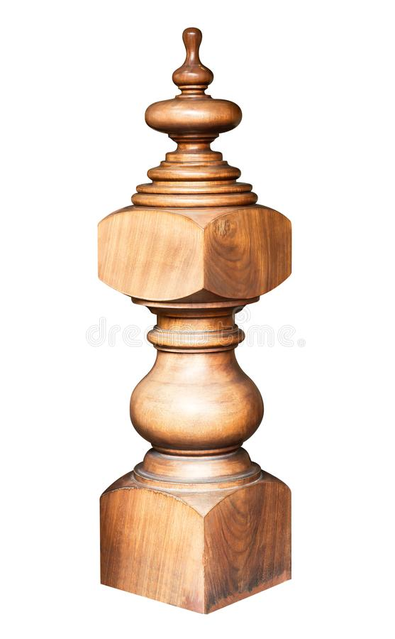 Engrave wooden pillar royalty free stock images
