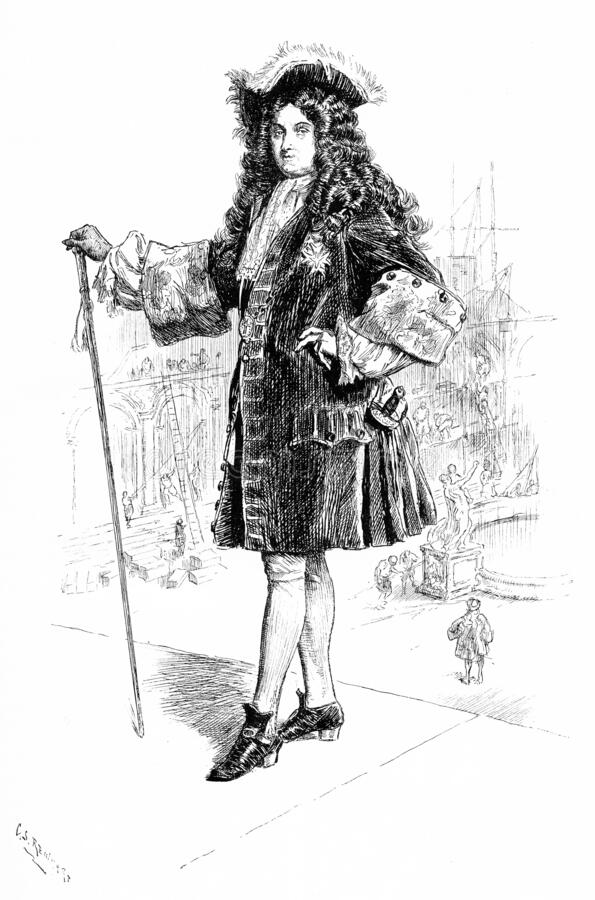 King Louis XIV of France royalty free illustration