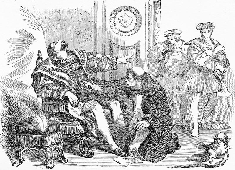 Assassination of Henry III, King of France. Engraving of the assassination of Henry III King of France. From Henry IV, by Jacob Abbott, 1846. Jacques Clément vector illustration