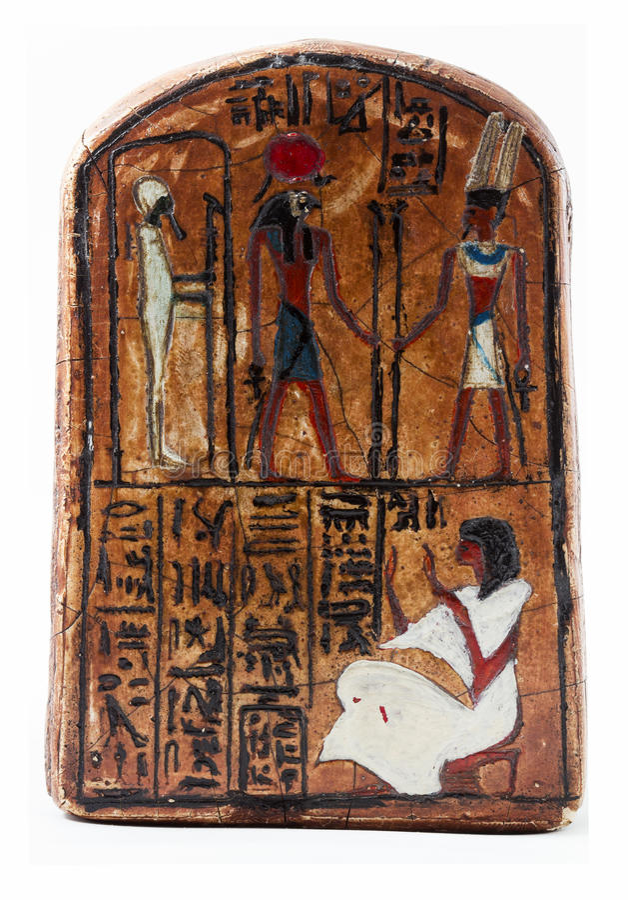 Engraving egyptian. Osiris hieroglyph, engraving egyptian, isolated stock images