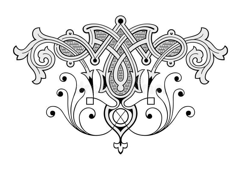 Engraving ornament. Retro russian engraving ornament vector royalty free illustration