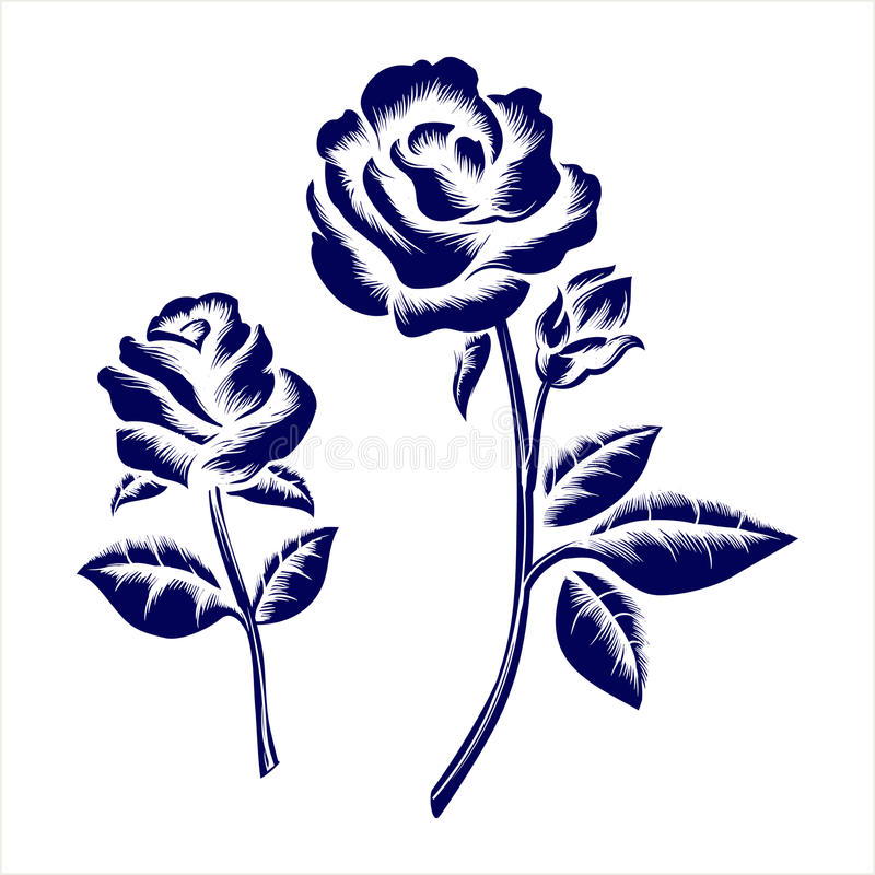Black And White Drawing Of A Rose Tattoo Silhouette Of