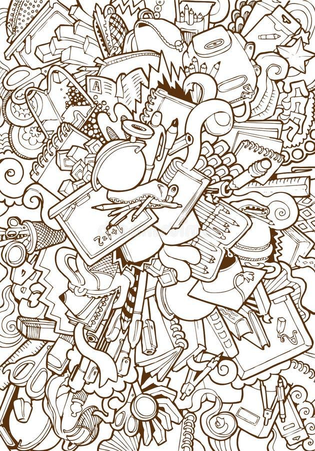 Engraving vintage bag alarm clock pencils ruler. Engraving vintage hand drawn vector school supplies and stationery doodle collage. Pencil Sketch bag, alarm vector illustration