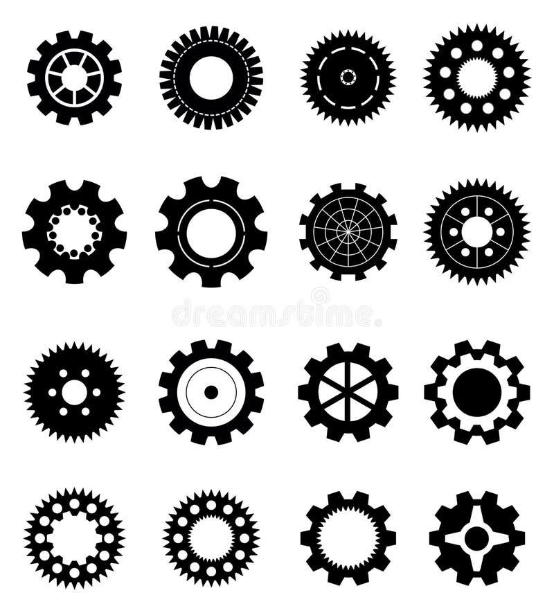 Engrena ícones ilustração do vetor