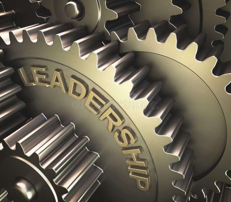 Engrena a liderança ilustração royalty free