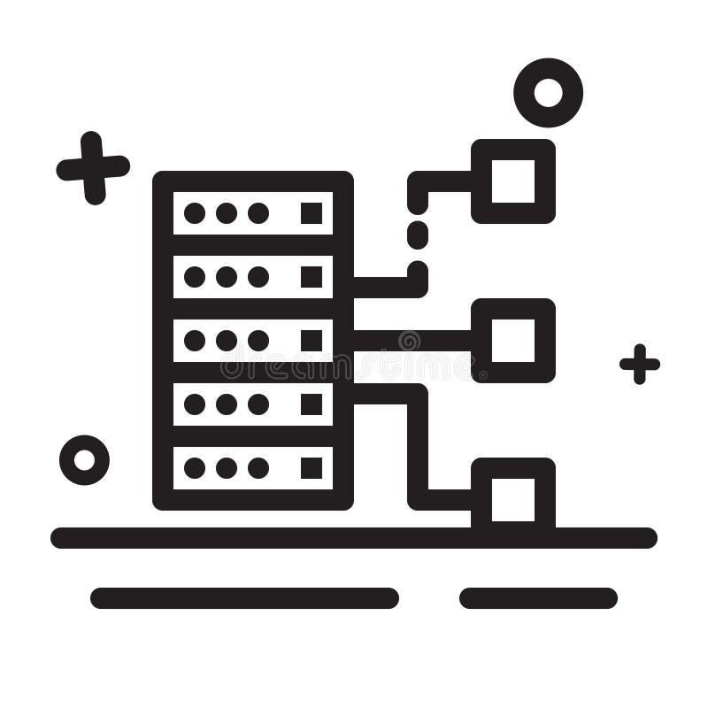 Engrena o ícone Ícone grande dos dados, ícone do armazenamento, ícone do banco de dados Ícone moderno do esboço ilustração royalty free