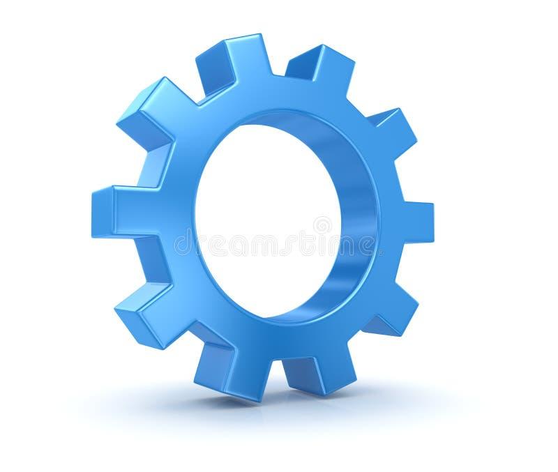 Engrenagem azul ilustração do vetor