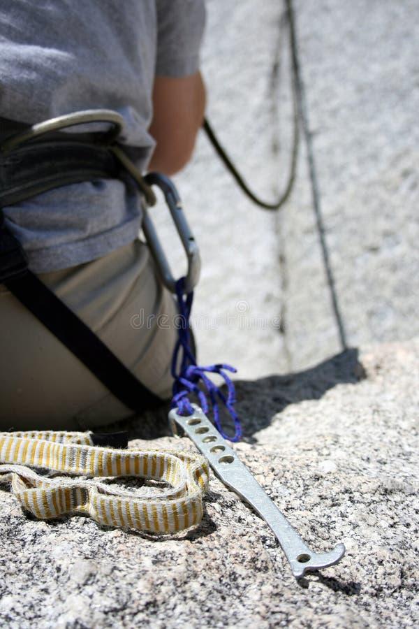 Engrenagem da escalada de rocha foto de stock royalty free