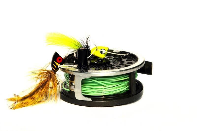 Engrenagem de pesca imagens de stock