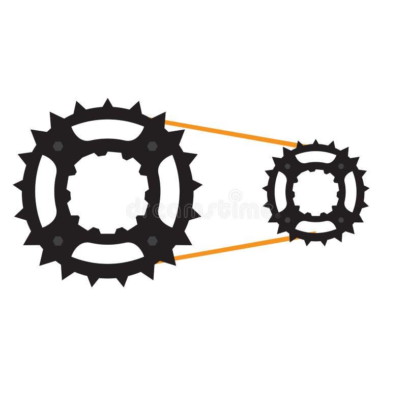 Engrenagem de uma bicicleta ilustração do vetor
