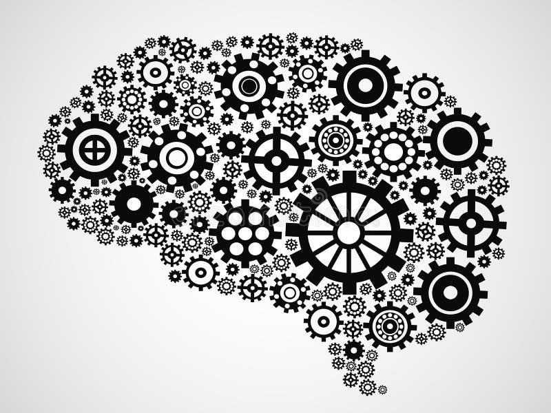 Engrenagem do cérebro ilustração royalty free
