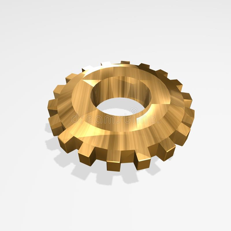 Engrenagem do ouro ilustração do vetor