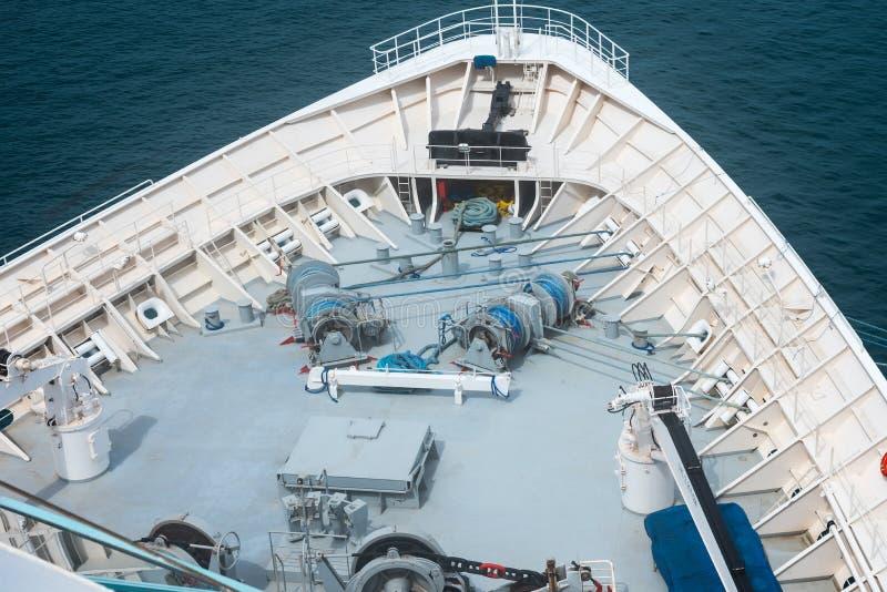 Engrenagem do sarilho do navio fotografia de stock royalty free