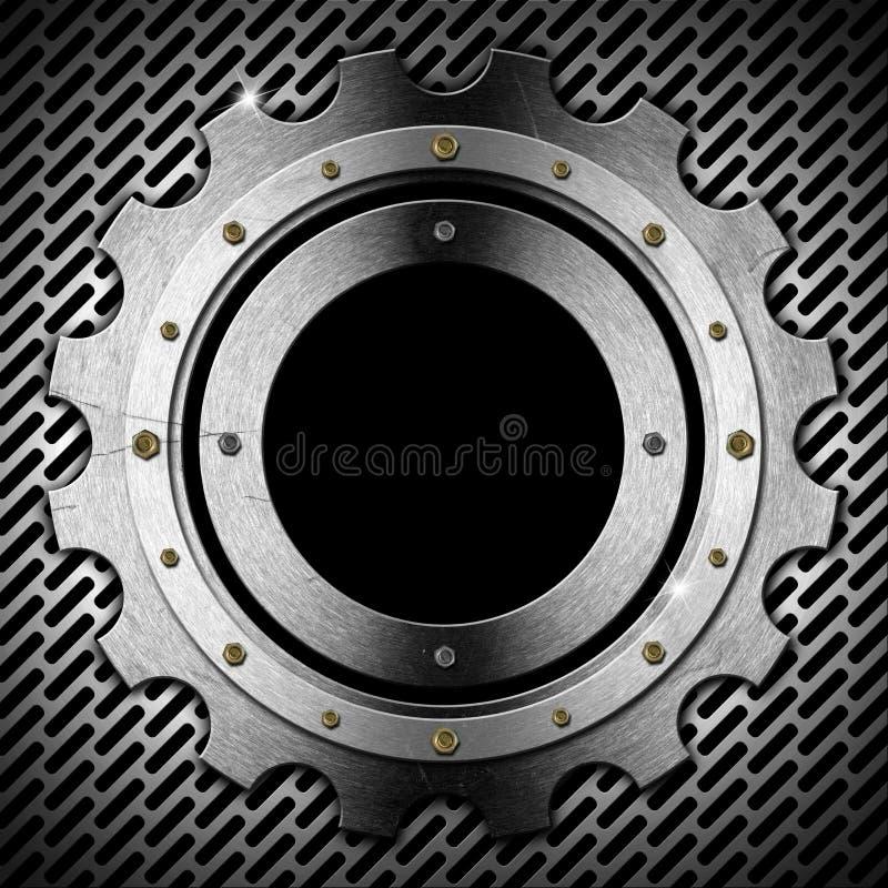 Engrenagem - Gray Metal Porthole ilustração do vetor