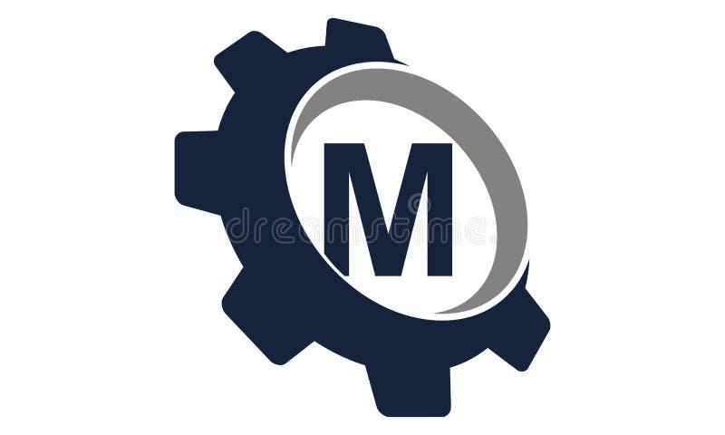 Engrenagem Logo Letter M ilustração stock