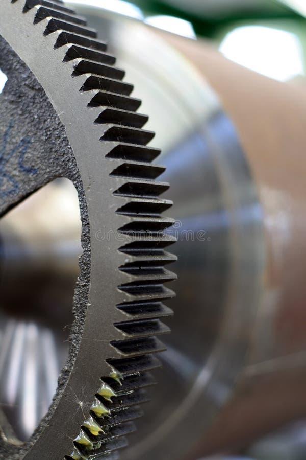 Engrenagem nova da máquina de impressão foto de stock