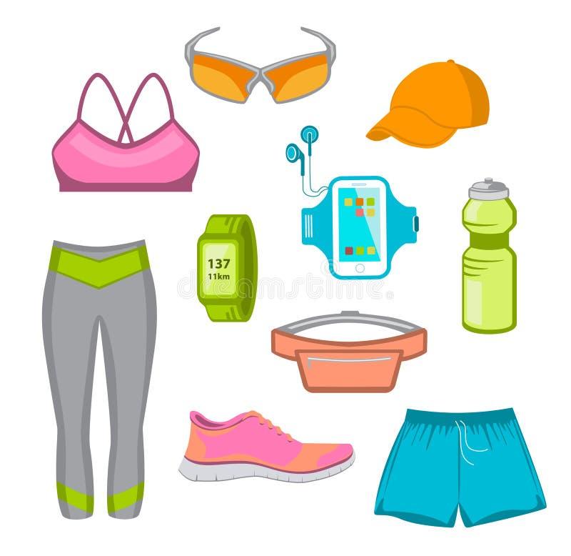 Engrenagem running para mulheres ilustração stock