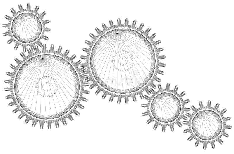Engrenagens ilustração do vetor