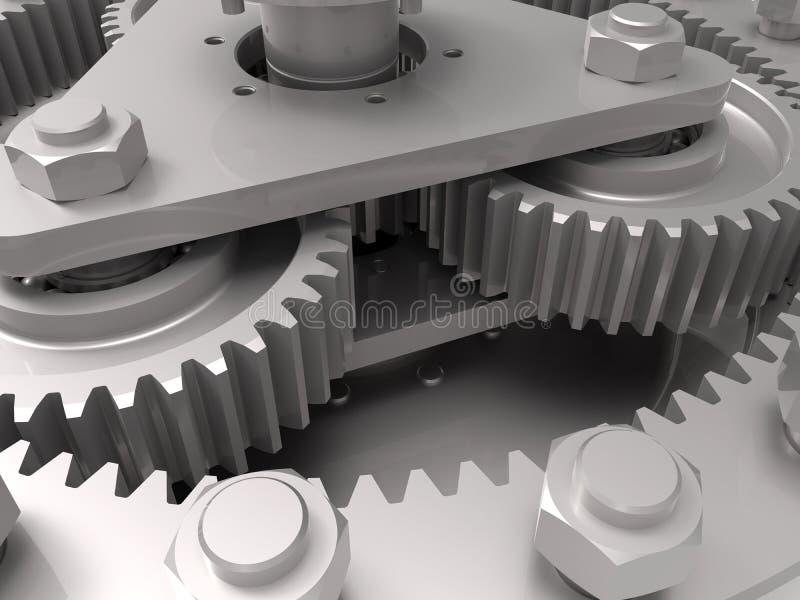 Engrenagens - conceito da engenharia mecânica fotos de stock royalty free