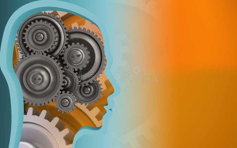engrenagens 3D ilustração stock