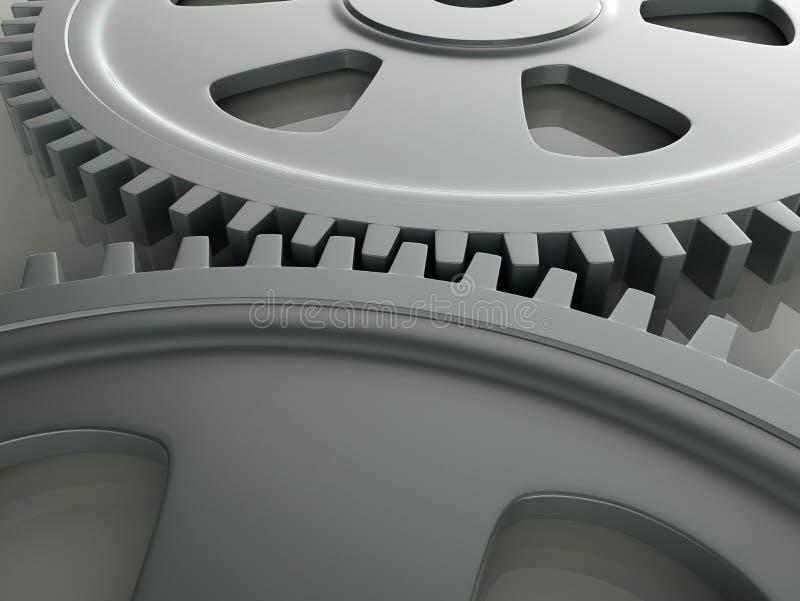 Engrenagens da alta tecnologia ilustração do vetor