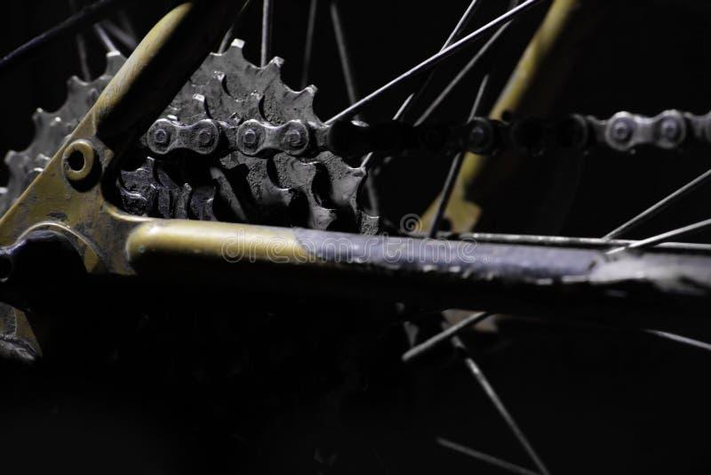 Engrenagens da bicicleta de montanha foto de stock royalty free