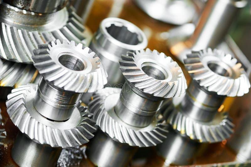 Engrenagens da roda da roda denteada do metal imagens de stock royalty free