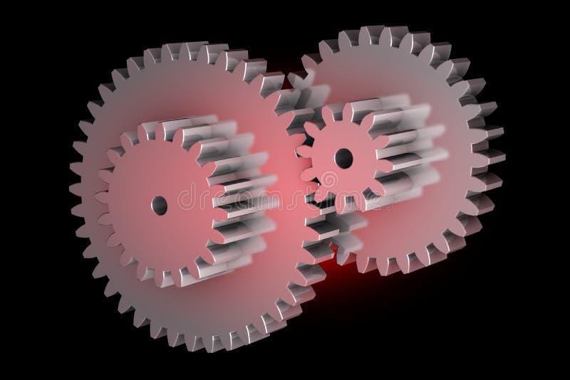 Engrenagens de giro virtuais ilustração do vetor