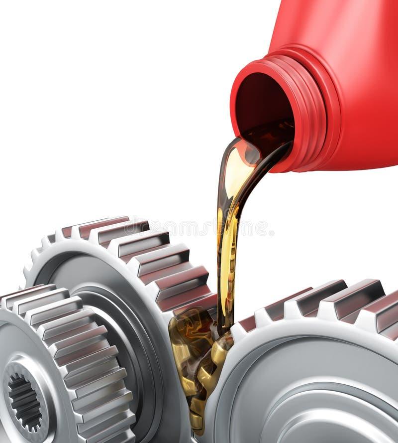 Engrenagens de lubrificação ilustração royalty free