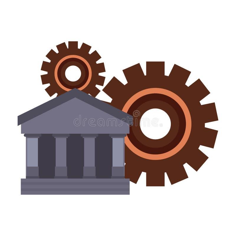 Engrenagens do banco do negócio ilustração do vetor
