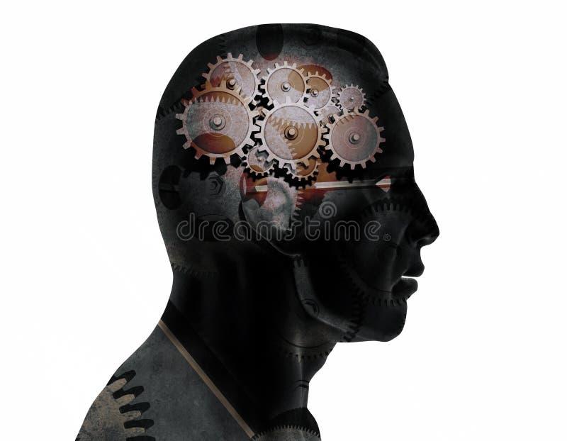 Engrenagens do cérebro imagens de stock
