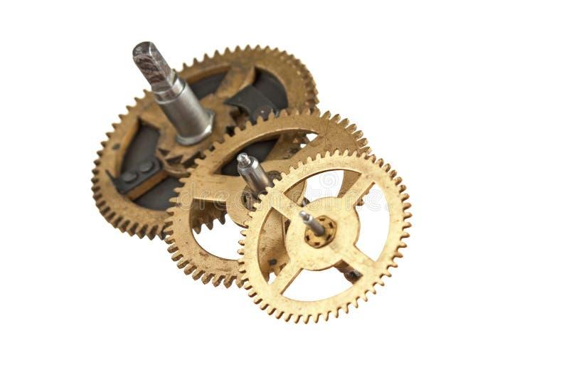 Engrenagens do maquinismo de relojoaria fotografia de stock