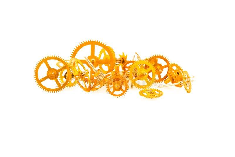 Engrenagens do maquinismo de relojoaria imagem de stock royalty free