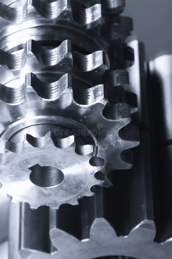 Engrenagens e espelhos mecânicos imagens de stock